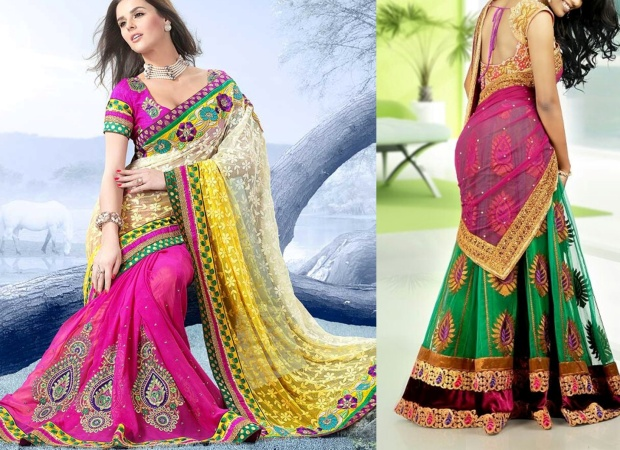 Half Saree Fit for wedding