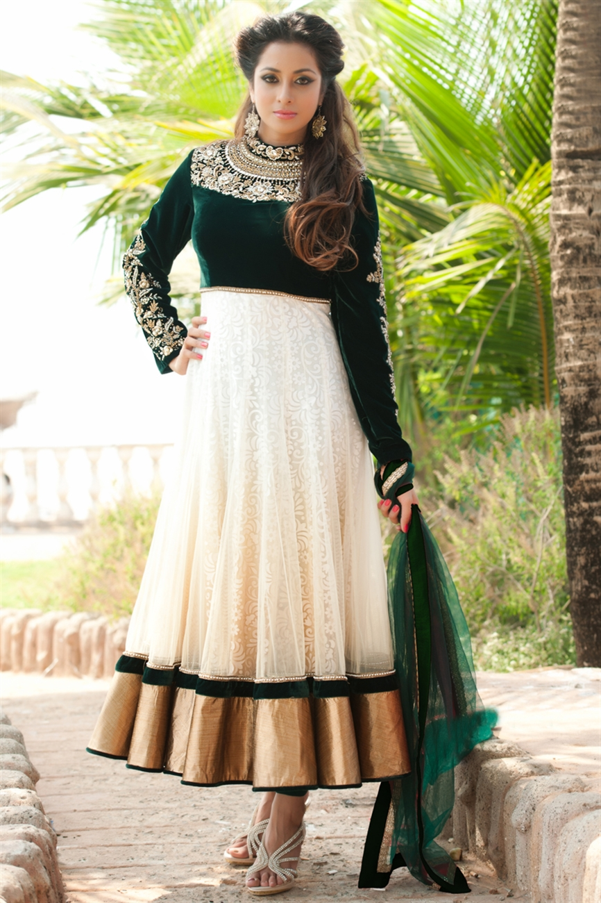 Floor length anarkali the indian statement of gowns bhavish for Floor length anarkalis