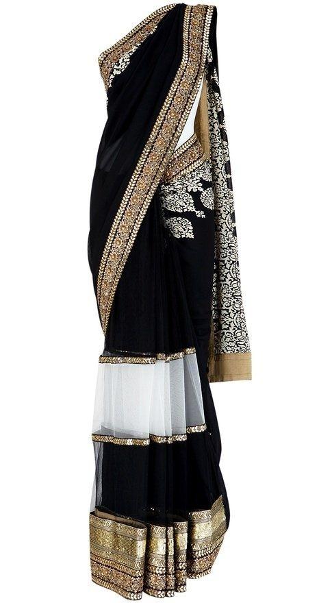 sabyasachi black saree